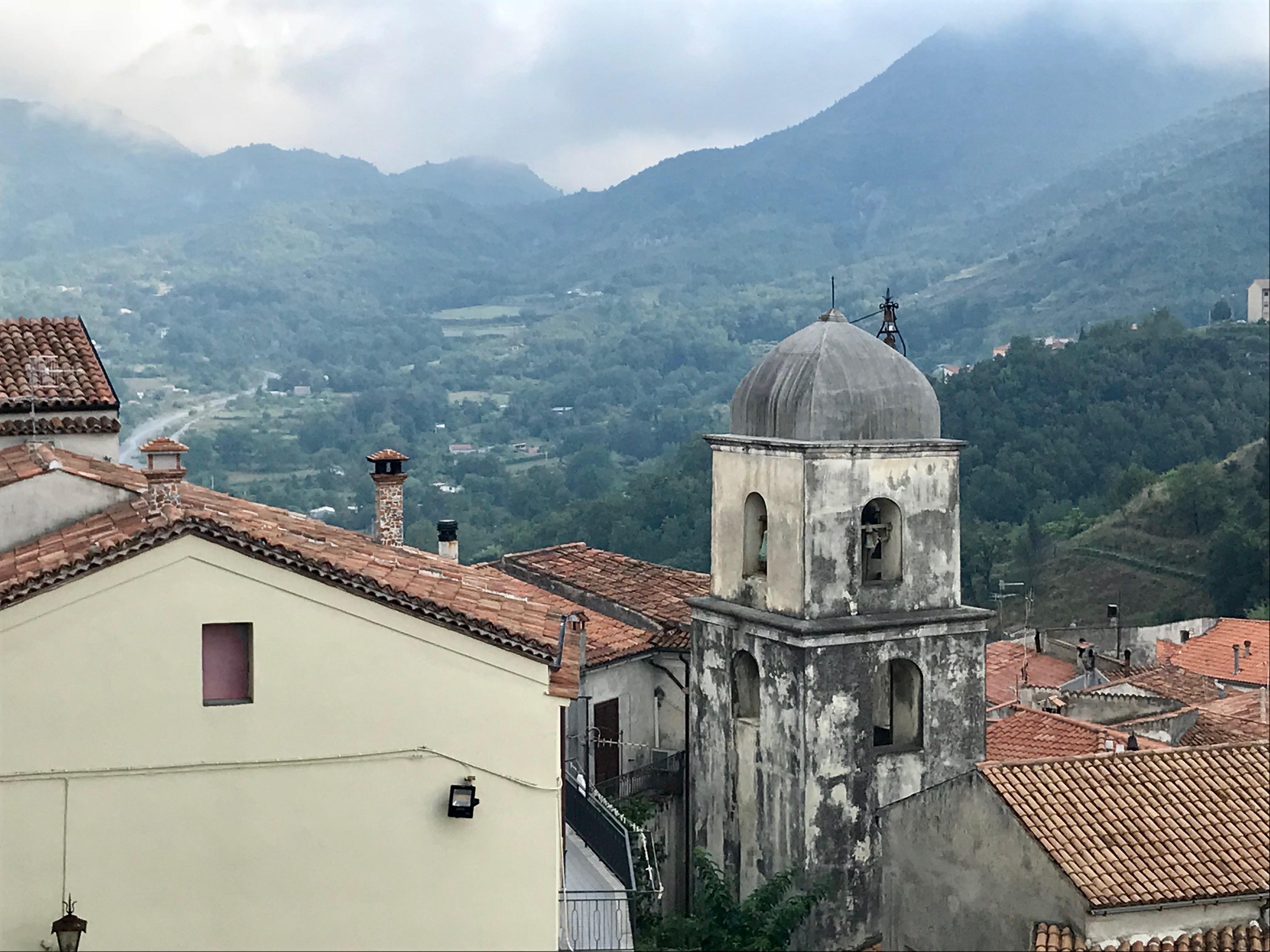 Aieta - Chiesa Santa Maria della Visitazione, Campanile